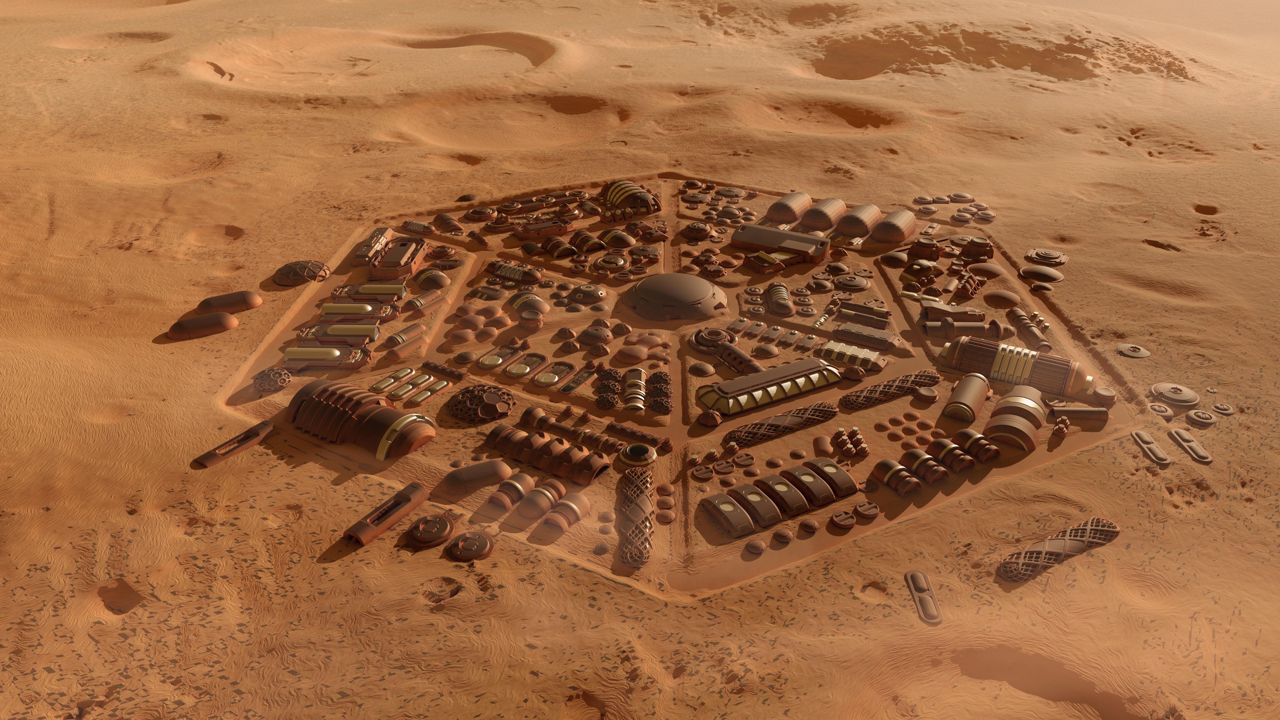 Idealne miasto na Marsie